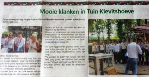 Popkoor Njoy Breda in de krant 2014
