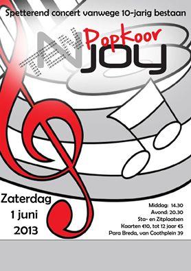 Popkoor Njoy Breda - poster TENjoy juni 2013